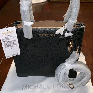 Michael Kors MD messenger black leather